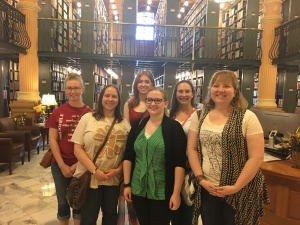 ESU SLIM students at the State Library of Kansas