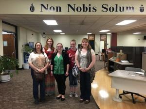 ESU SLIM students at Washburn University's Mabee Library